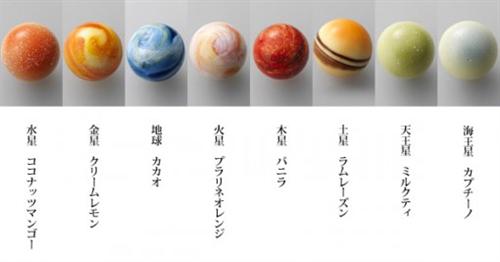太陽系をイメージしたあま~いショコラの惑星「レクラ 惑星の輝き」006