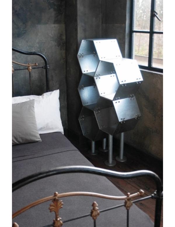 金属剥き出しな六角形の無骨なラック「ダルトン エクステンション 'HHP' ラック」003