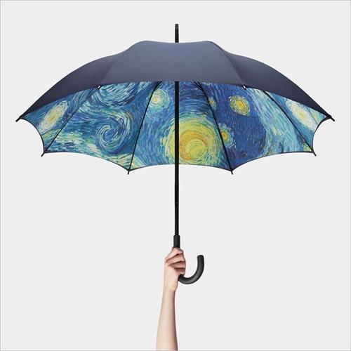 雨の日だけ見れる星月夜「MoMA スターリーナイト アンブレラ」001