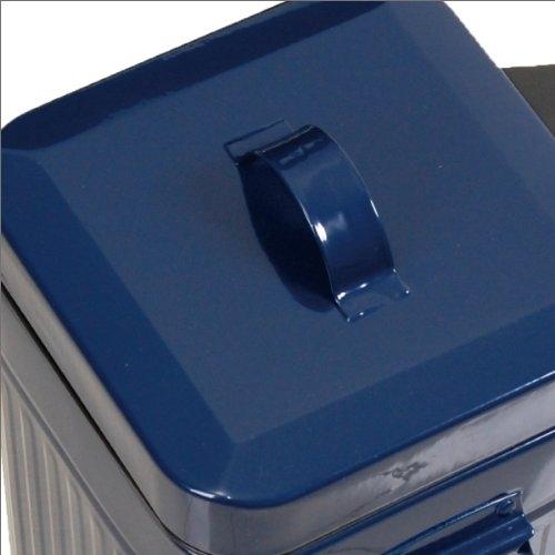 無骨でレトロ、でもたっぷり入ります フタ付きのゴミ箱「Galva Square Dust Box」001