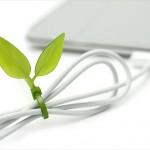 ケーブルがカワイイ木の枝に変身「Leaf Tie」