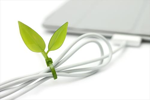 ケーブルがカワイイ木の枝に変身「Leaf Tie」002