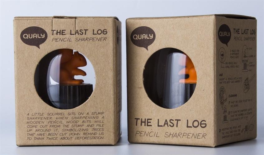 リスが木の切り株にちょこん座った鉛筆削り「QUALY The Last Log」003