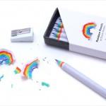 短かくなるのが楽しみになりそう!? 削りカスが虹になる「Rainbow Pencils」