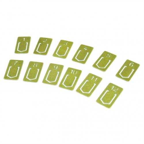 懐かしい雰囲気の真鍮製クリップ「ミドリ ブラス クリップ ナンバー」001