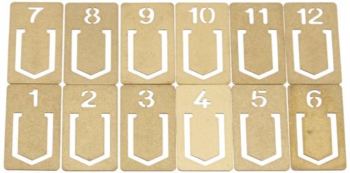懐かしい雰囲気の真鍮製クリップ「ミドリ ブラス クリップ ナンバー」002