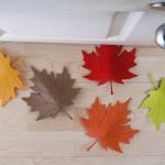 大きな落ち葉がドアを固定「QUALY ドアストッパー Autumn」