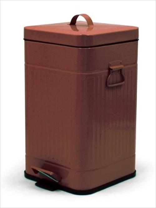 無骨でレトロ、でもたっぷり入ります フタ付きのゴミ箱「Galva Square Dust Box」003
