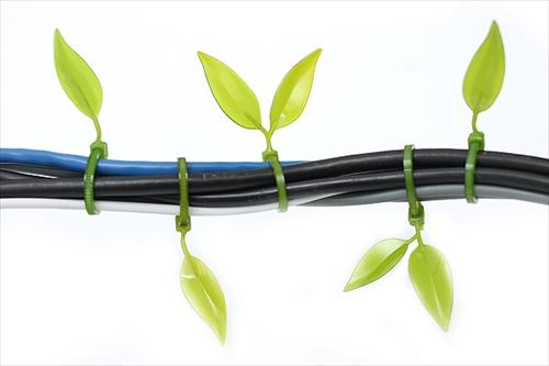 ケーブルがカワイイ木の枝に変身「Leaf Tie」003