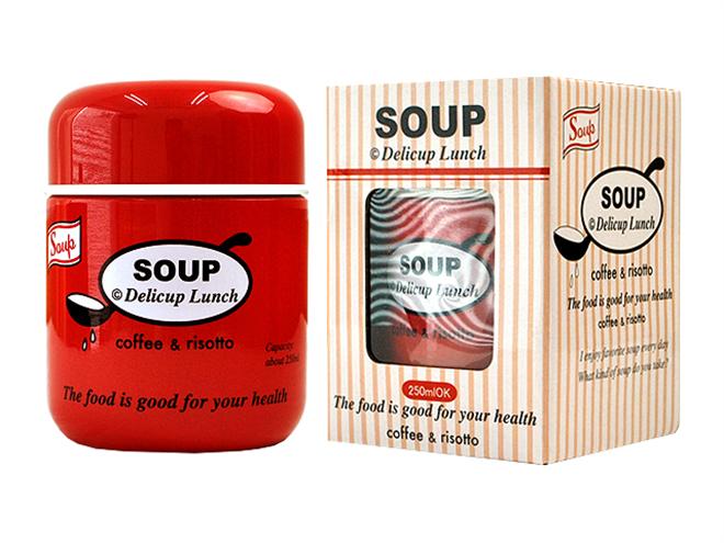 温かいスープをお弁当で美味しく食べれる プライムナカムラ ラウンドマグ ボトルスープ001