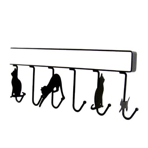 ネコのシルエットが楽しいキッチンハンガー。001