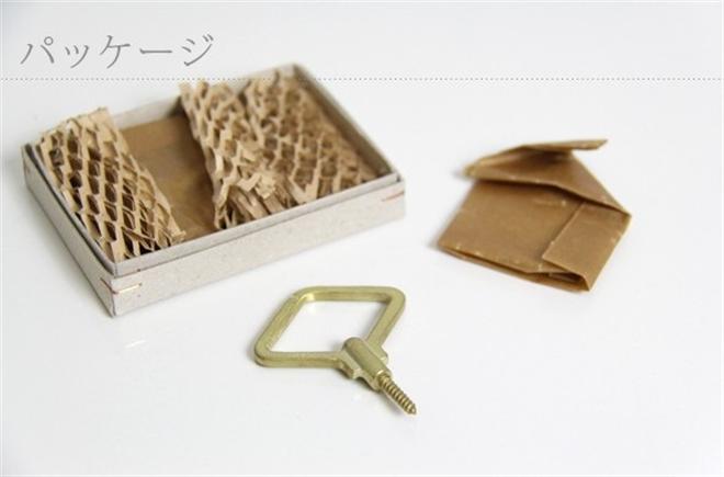 ゼンマイの形をしたネジ込み式の壁掛けフック FUTAGAMI ゼンマイフック 菱型 豆型001
