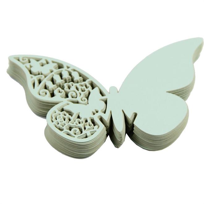 蝶の羽根に残すメッセージ 美しい蝶のメッセージカード001