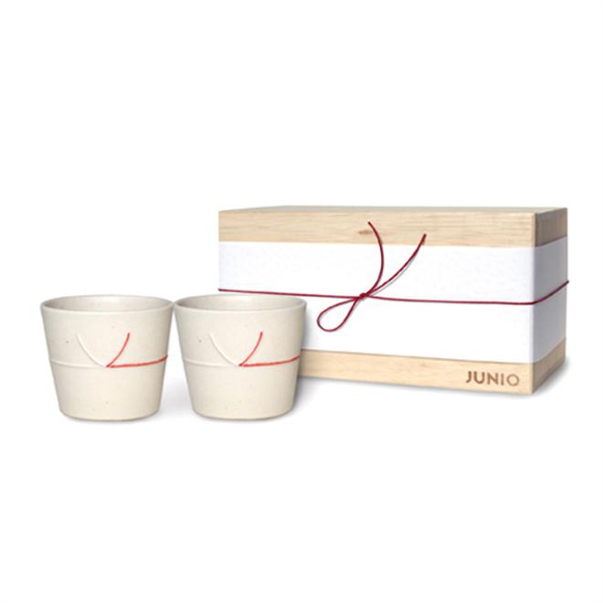 日本の伝統「水引」が入ったコップとおちょこ JUNIO mizuhiki001