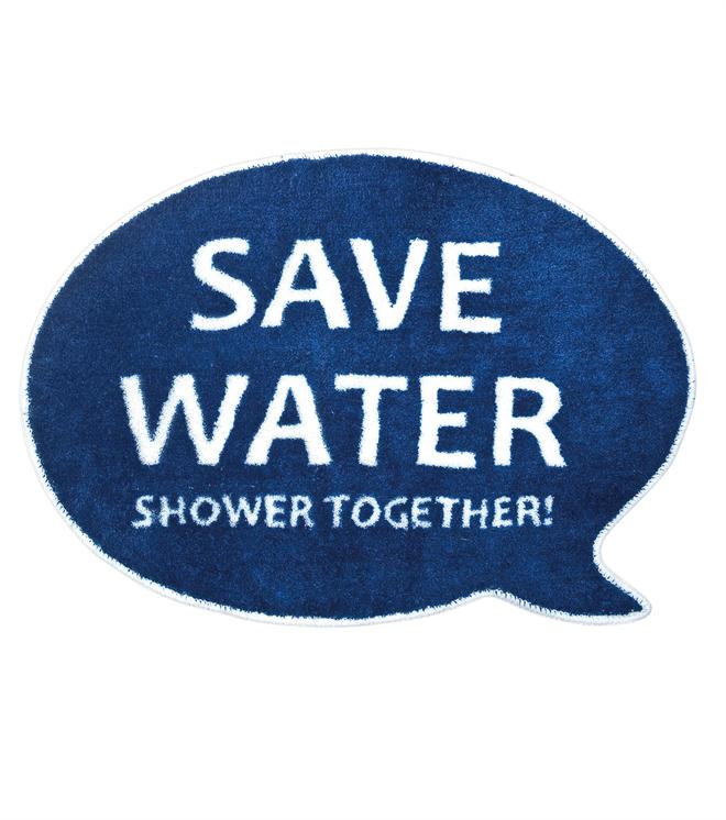 入浴前の節水アピール balvi Save Water バスルームラグマット001