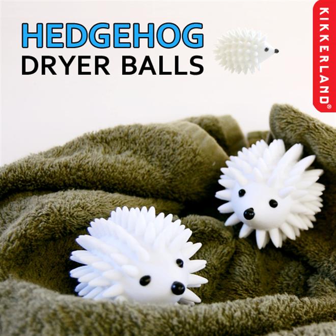 キュートなハリネズミが洗濯のお手伝い KIKKERLAND ヘッジホッグ ドライヤーボール001