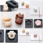 お菓子作りの幅が広がる かわいいニャンコの練りきりが作れる型