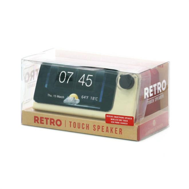 iPhoneがレトロな時計に変身 Retro Touch Speaker001