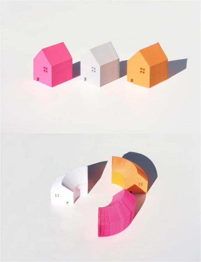 家の形をしたメモブロック HOME MEMO BLOCK002