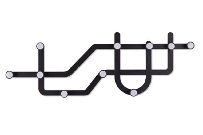 地下鉄の路線図をイメージした壁掛けフック Umbra SUBWAY HOOK002