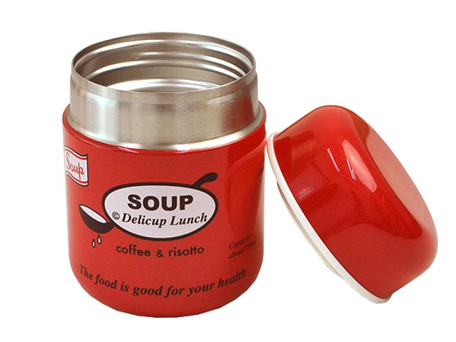 温かいスープをお弁当で美味しく食べれる プライムナカムラ ラウンドマグ ボトルスープ002