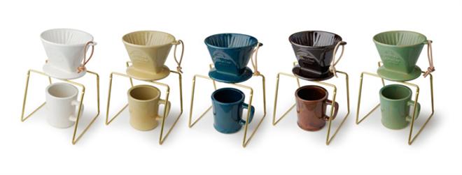 和食器に使われる釉薬で色付けした陶器のコーヒードリッパー amabro REGULAR DRIPPER002