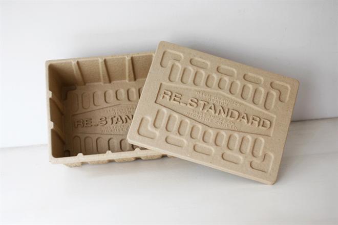 古紙100%のエコな収納ケース HIGHTIDE Molded Pulp Box002
