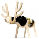 動物がワインをキープ 木製のワインラック Animal's bone