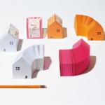 家の形をしたメモブロック nico HOME MEMO BLOCK