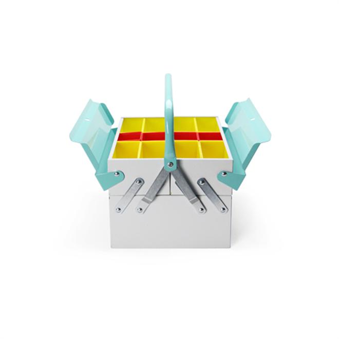 工具箱なんだけどインテリア感覚で使えるカラーリング Tool Box Mint003