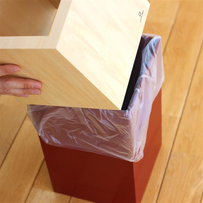 ゴミ袋をスッキリ隠すゴミ箱 W CUBE ダストボックス003