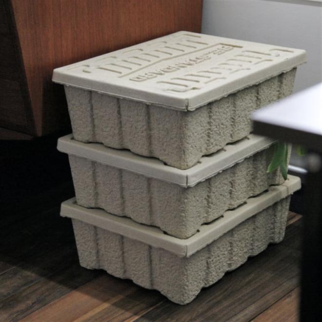 古紙100%のエコな収納ケース HIGHTIDE Molded Pulp Box003