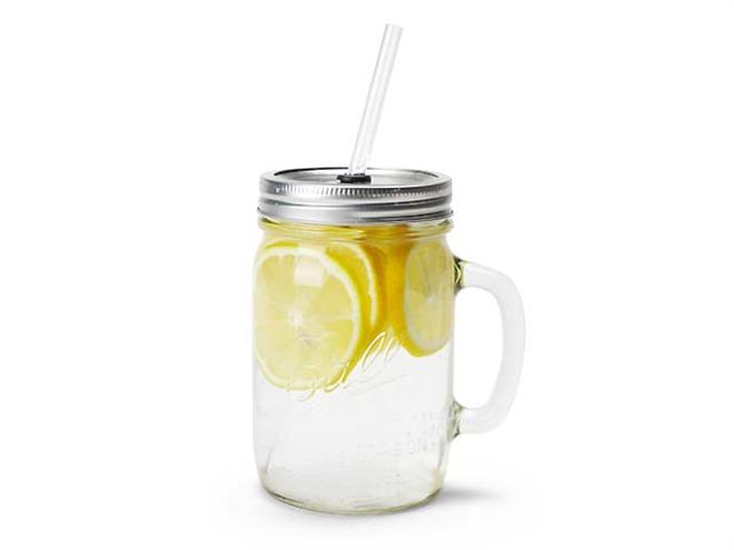 ビンじゃないよグラスだよ フタ付きの大きなグラス Rednek Handled Glass Mug 003