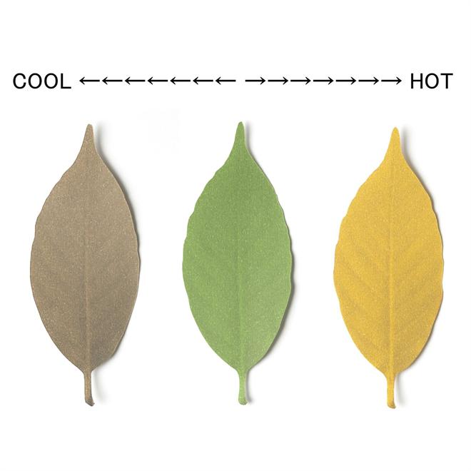 温度で変化する葉で壁を飾ろう Leaf サーモメーター003