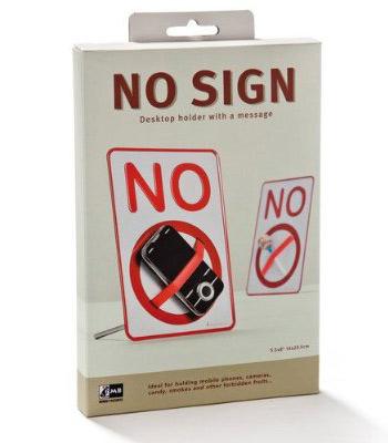 実物を封印しちゃう注意喚起の小さい標識 NO SIGN Desktop holder a message004