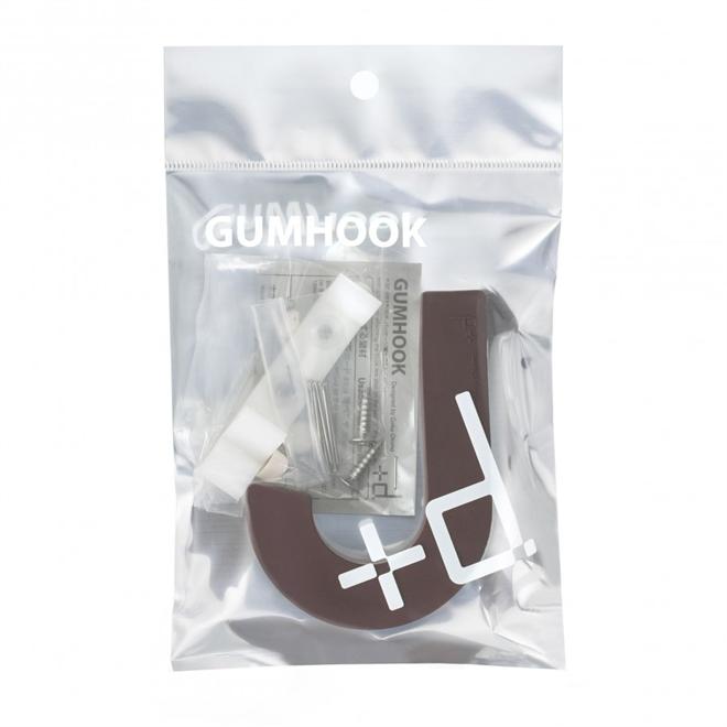 柔らかいからぶつかっても痛くない シリコン製の壁掛けフック +d GUM HOOK004