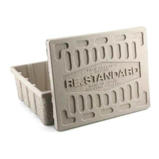 古紙100%のエコな収納ケース HIGHTIDE Molded Pulp Box004