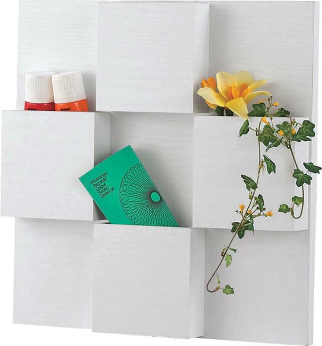 シンプルで薄い壁掛け収納 Ego ウォールポケット004