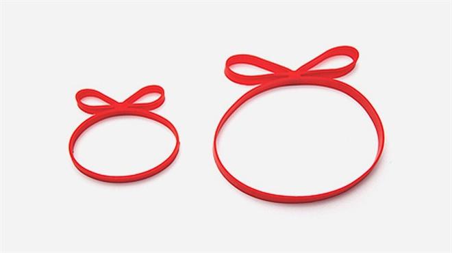 つけるだけでプレゼントのように リボンみたいなゴムバンド Gifted Ribbon Bands004