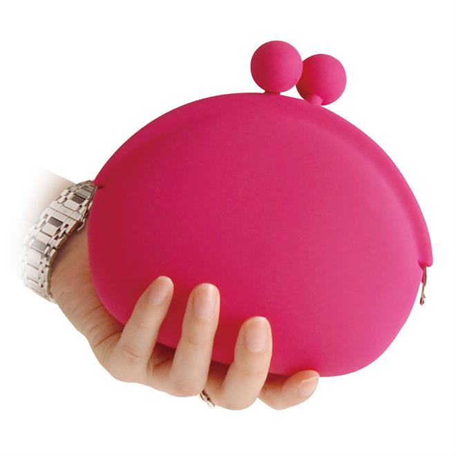 バッグに入れるポップなカラーのがまぐちみたいなポーチ POCHI-BIG004