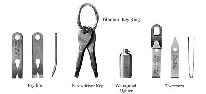 キーホルダーに取り付けておくと困ったときに役立つかも 小さなツールセット EDC kit004