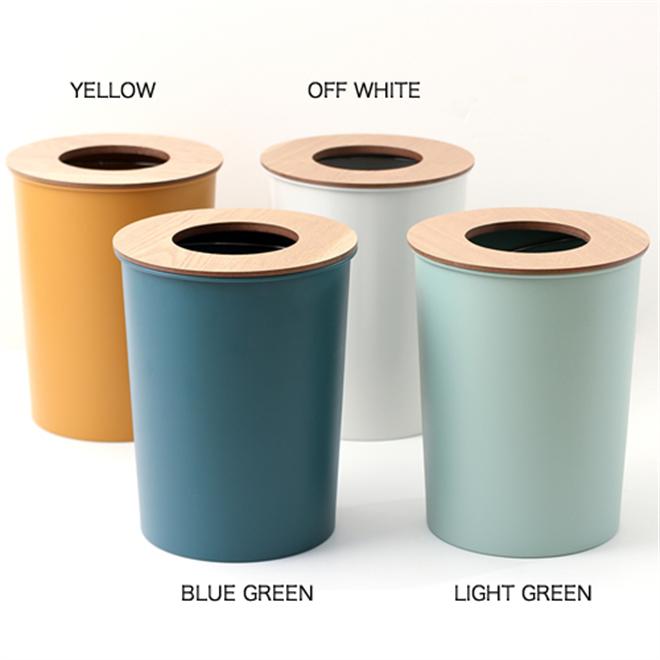 ゴミ袋を隠せる丸いゴミ箱 COLOR & WOOD DUST BOX004
