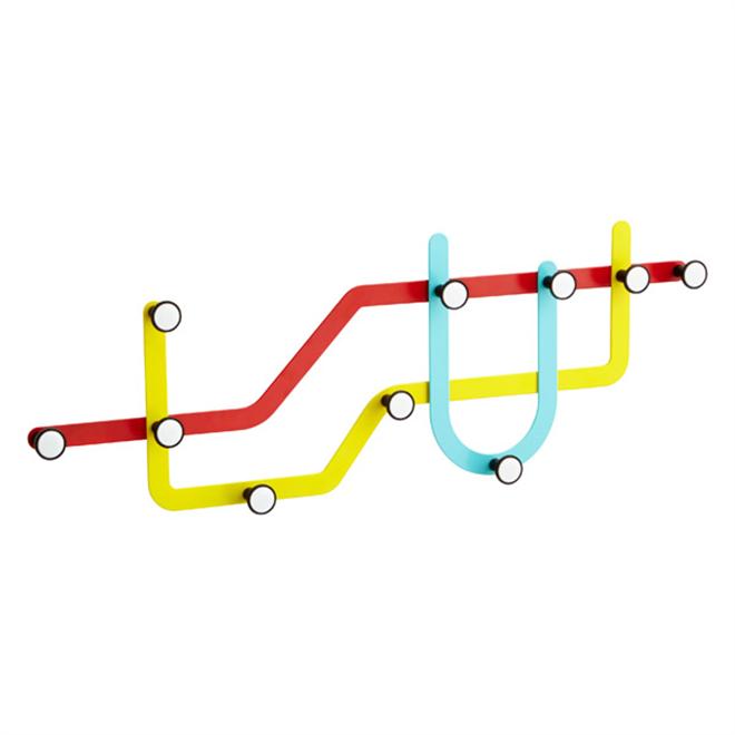 地下鉄の路線図をイメージした壁掛けフック Umbra SUBWAY HOOK004