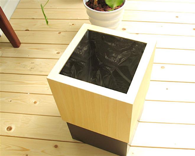 ゴミ袋をスッキリ隠すゴミ箱 W CUBE ダストボックス005