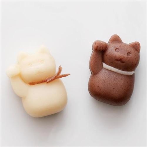 お菓子作りの幅が広がる かわいいニャンコの練りきりが作れる型005