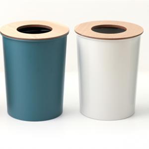 ゴミ袋を隠せる丸いゴミ箱 COLOR & WOOD DUST BOX005