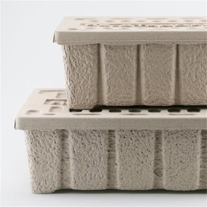 古紙100%のエコな収納ケース HIGHTIDE Molded Pulp Box006