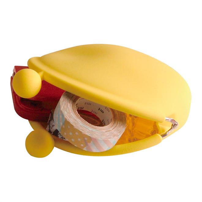 バッグに入れるポップなカラーのがまぐちみたいなポーチ POCHI-BIG006