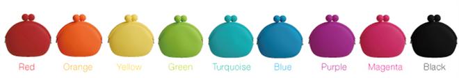 バッグに入れるポップなカラーのがまぐちみたいなポーチ POCHI-BIG007