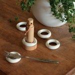 積み重ねて収納できるリングの箸置き ceramic japan リングセット